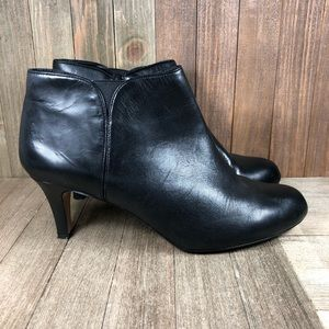 Clarks Collection Leather Booties Heels Womens 11